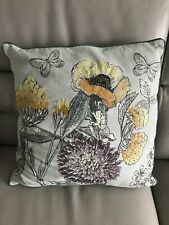 Next green cushion VGC Floral Pretty Beaded Butterfly