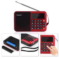 Portable HD LCD Digital Auto Mini FM Radio Speaker USB TF Card Mp3 Music Player