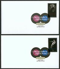 #4692 & 4693 Edith Piaf & Miles Davis, Digital Color FDC **ANY 4=FREE SHIPPING**