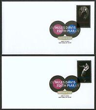 #4692 & 4693 Edith Piaf & Miles Davis, Digital Color FDC **ANY 4=FREE SHIPPING**