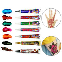 7 Colors Cone Henna Paste Body Paint for Women Men DIY Drawing Arm Temporary HU