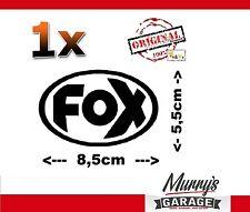 ORIG escape deportivo Fox logo negro pegatinas, sticker decal, autocollant 55x85mm