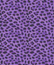 Fine Decor Furs Wallpaper FD30683 - Animal Print Leopard Cheetah Metallic Purple