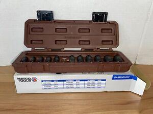 "MATCO TOOLS SAMPM126V 1/4"" Dr 12 Pc METRIC MAGNETIC 6 Pt ADV IMPACT SOCKET SET"