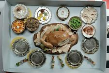 Gene Size Christmas Dinner Set Food Set Realistic Mini Food