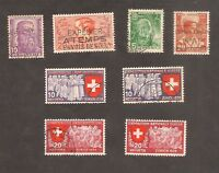 Switzerland Swiss Pro Juventute 1937 1938 and National Exposition 1939 Lot