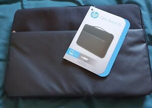 """Hewlett Packard 39cm (15.6"""") Computer Carry Sleeve Black/Silver New with Tags A1"""