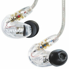 Shure SE215 In-Ear Sound Isolating Earphones - CLEAR - UK DELIVERY