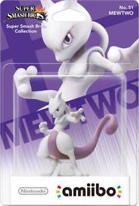 Nintendo Amiibo Mewtwo Character Figure Super Smash Bros Switch 3DS Wii U New!!!
