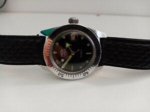 montre ancienne de plongée Maty ( AS1700 ) skin watch vintage diver vintage