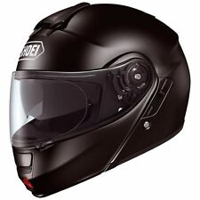 Shoei Neotec Modular Motorcycle Riding Helmet with Sun Shield - Black Size Large