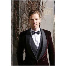 Benedict Cumberbatch in Red Velvet Tuxedo Jacket Bowtie 8 x 10 inch photo