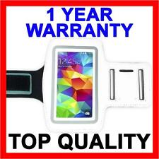 WHITE Sports Gym Armband Arm Band Running Case for Samsung Galaxy S5 S4 S3 S2