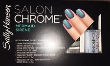 New Sally Hansen Lim Ed Salon Chrome 5PC Kit Miracle Gel Nail Polish - Mermaid
