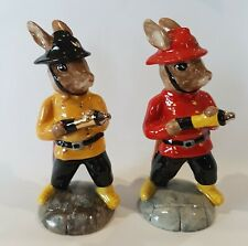 Royal Doulton Bunnykins Db183 Fireman – Red and Rare Yellow Prototype Figurines