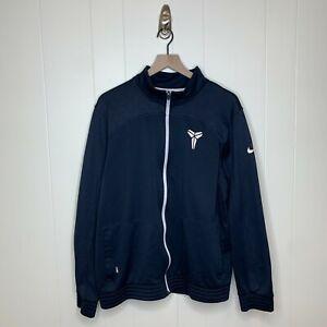 Nike Kobe Bryant KB24 Logo Full Zip Sweatshirt Jacket Navy Blue Swoosh Size XL