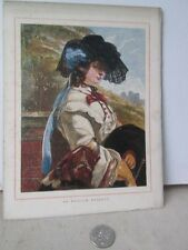 Vintage Print,ENGLISH ROSEBUD,Painters+Poets,19th Century
