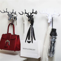 Wall Hanging Hook Vintage Deer Head Antlers for Hanging Clothes Hat Scarf Key