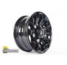 Land Rover Defender scie dent 7X16 Gloss Black alloy wheels set complet de quatre