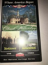 Where America Began;Colonial Williamsburg, Yorktown,Jamestown-VHS RARE VINTAGE