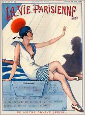 1920 La Vie Parisienne The Telegramme French France Travel Advertisement Poster