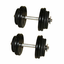 Black Adjustable Dumbbells- 40 Lbs Total