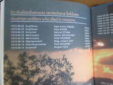 AUSTRIA ARMED FORCES UN MISSION PHOTO BOOK schmidt