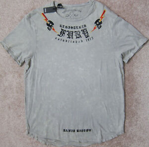 BUFFALO David Bitton (Ardent/Grey) Dyed and Washed Graphic T-Shirt Mens NWT $39