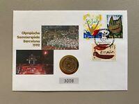 Spanien - Numisbrief - Olympische Spiele von Barcelona 1992