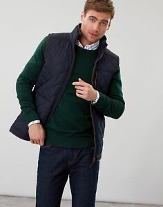 Joules Mens Halesworth Fleece Lined Quilted Gilet - Marine Navy - L