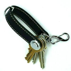 Genuine Leather Key Holder Organiser Keyring Stainless Steel Full Adjustable Kit