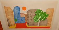 "MISHA LENN ""LA PLACE IN SOLAIRE"" LIMITED EDITION SIGNED EMBOSSED LITHOGRAPH"