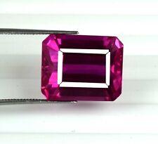 Padparadscha Pink Sapphire 25.65 Ct Gemstone Natural Emerald Cut Certified U7588