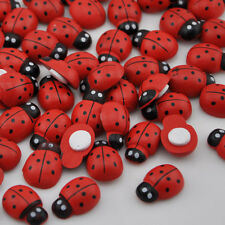 100pcs Ladybug Stickers Easter Fridge Magnets for Scrapbooking Buttons WB145