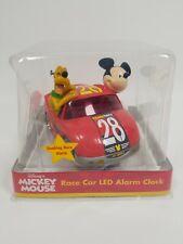 Disney Team/Mky #28 Red Car Alarm Clock Mickey Mouse & Pluto Digital Clock NIB