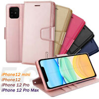 For Apple iPhone 12 Pro MAX/12 Mini Luxury Hanman Leather Wallet Flip Case Cover