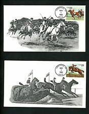US FDC #2756-2759 Set of 4 S & T Cachet Horses Sports Polo Racing Jumping 1993