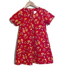 Hanna Andersson Girls 110 5-6 Red Floral Dress