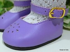 """**SALE** LAVENDER Diamond Cut ANKLE STRAP DOLL SHOES fits 18"""" AMERICAN GIRL DOLL"""