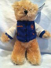 "Official MLB NY Mets Coach  Plush Teddy Bear 10"" Good Stuff New w Tag"