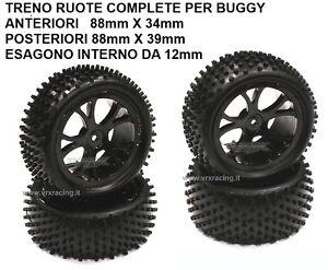 TRENO RUOTE BUGGY ANTERIORI E POST. ESAGONO 12 mm OFF ROAD VRX 10300BK 10301BK