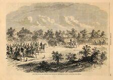 Stampa antica VERONA incontro fra Imperatori nel 1859 Old print