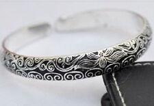 Hermoso Estilo de Tíbet suerte Totem Brazalete de plata tibetana