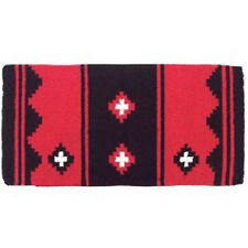 RED AND BLACK MAYATEX SHOW APACHE SADDLE BLANKET HORSE TACK