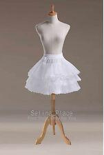 Above Knee Length Lace Edge Crinoline Petticoat Skirt Silps Bridal Cocktail TUTU
