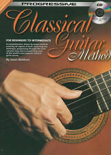 Progressive Classical Guitar Method Tuition Book with CD
