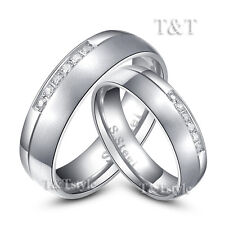 T&T 6mm S.Steel Comfort Engagement Wedding Band Ring For Couple Size 6-14 New