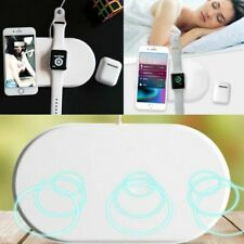 3 in1 Wireless Charger Pad Speed Charging For Watch iPhone X Phone Headphones