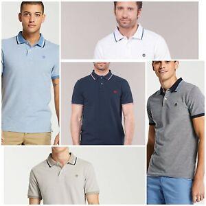 Timberland Men's Tipped Pique Polo 100% Genuine Shirt Cotton ShortSleeves Shirt