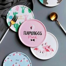 Waterproof Coasters Round Table Cup Placemat Cute Pattern Non-slip Heat Insulate